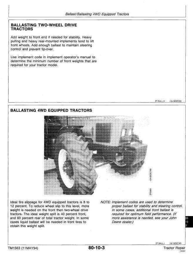 TM1563 - John Deere 2000, 2100, 2200, 2300, 2400 Tractors Technical Service Manual - 3
