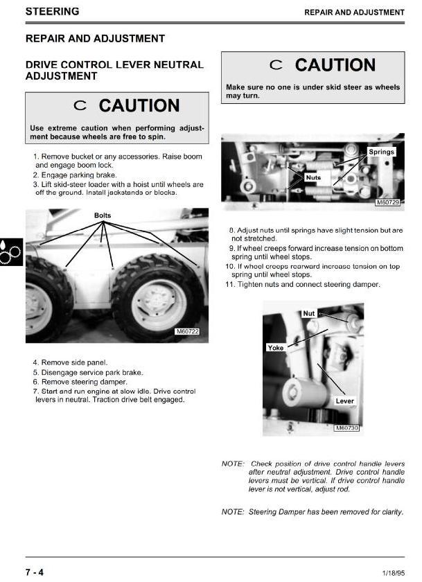 TM1565 - John Deere Skid Steer Loader Model 3375 (SN from 130001) Diagnostic, Repair Technical Service Manual - 2