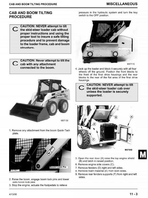TM1566 - John Deere Skid Steer Loader Type 8875 Service Technical Manual - 3