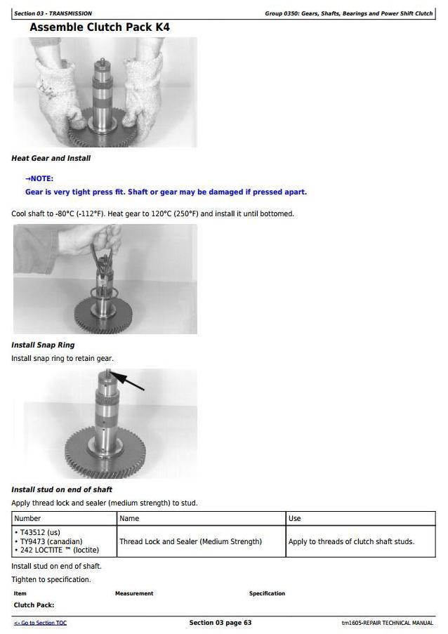 TM1605 - John Deere 444H, 544H 4WD Loaders; TC44H, TC54H Tool Carrier Loaders Service Repair Manual - 2