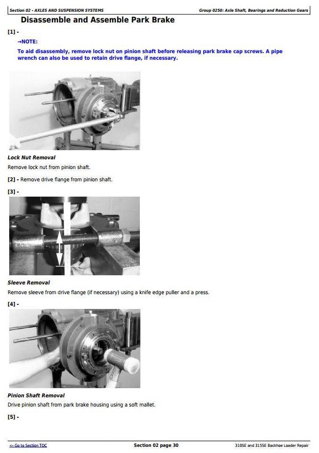 TM1609 - John Deere 310SE Backhoe Loader, 315SE Side Shift Loader Service Repair Technical Manual - 1