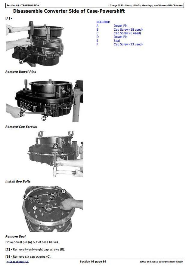 TM1609 - John Deere 310SE Backhoe Loader, 315SE Side Shift Loader Service Repair Technical Manual - 2