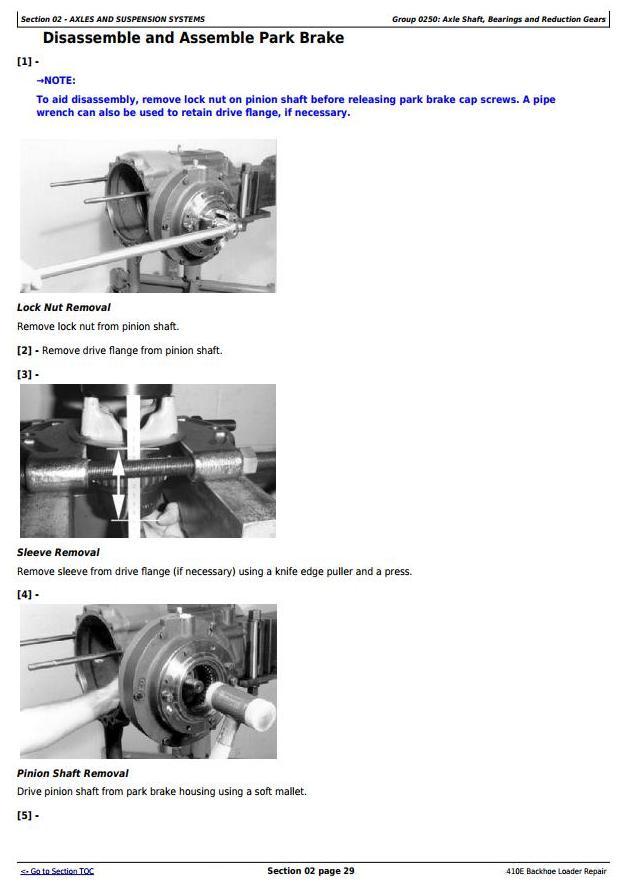 TM1611 - John Deere 410E Backhoe Loader Service Repair Technical Manual - 3