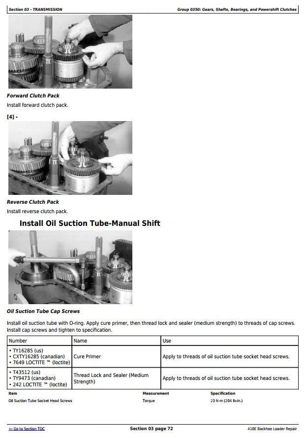 TM1611 - John Deere 410E Backhoe Loader Service Repair Technical Manual - 1