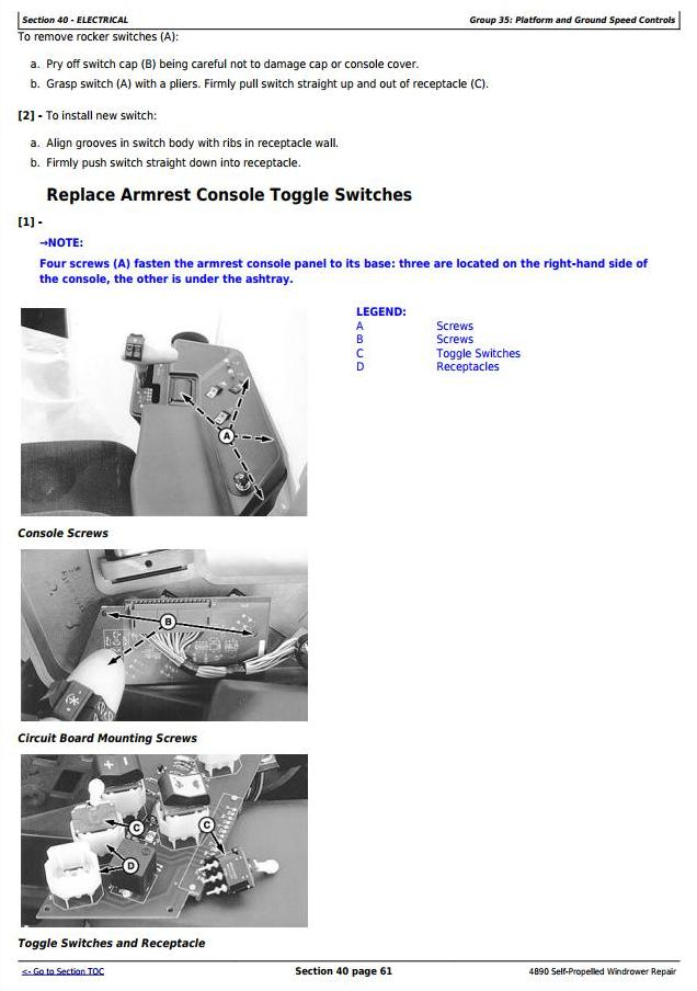 TM1617 - John Deere 4890 Self-Propelled Hay and Forage Windrower Service Repair Technical Manual - 2