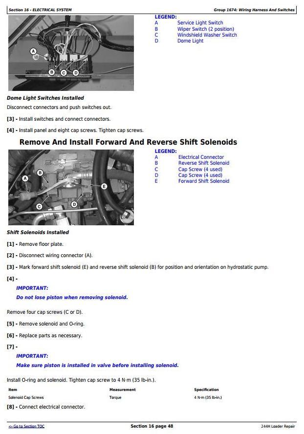 TM1629 - John Deere 244H 4WD Loader Service Repair Technical Manual - 3