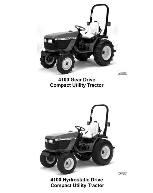 TM1630 - John Deere 4100 Compact Utility Tractors Technical Service Manual - 1
