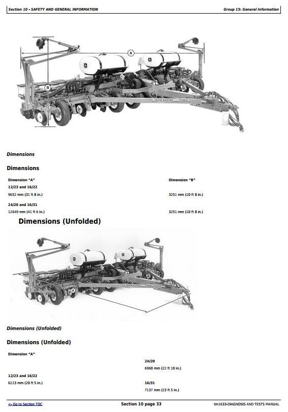 TM1633 - John Deere 1780 Front-Fold Drawn Conservation Planters Diagnostic and Tests Service Manual - 3