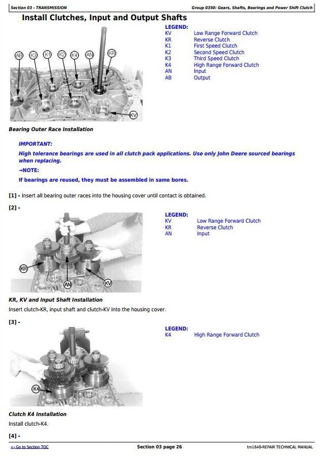 TM1640 - John Deere 624H 4WD Loader and TC62H Tool Carrier Loader Service Repair Technical Manual - 2