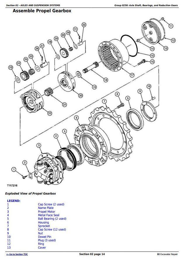 TM1656 - John Deere 80 Midi Excavator Service Repair Technical Manual - 1