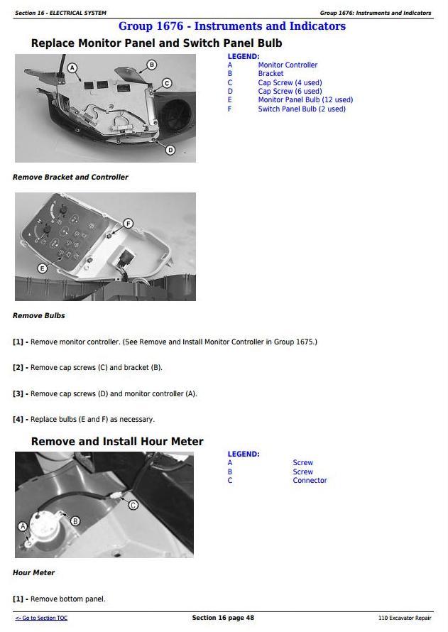 TM1658 - John Deere 110 Excavator Service Repair Technical Manual - 3