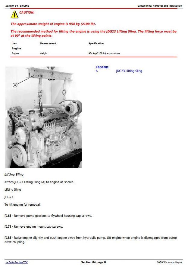 TM1664 - John Deere 200LC Excavator Service Repair Manual - 1
