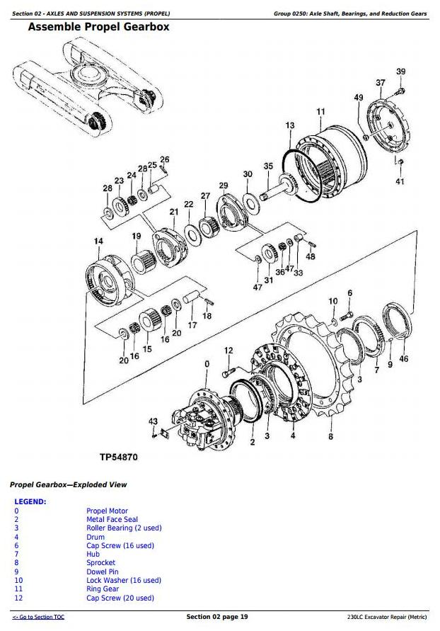 TM1666 - John Deere 230LC Excavator (Metric) Service Repair Technical Manual - 1