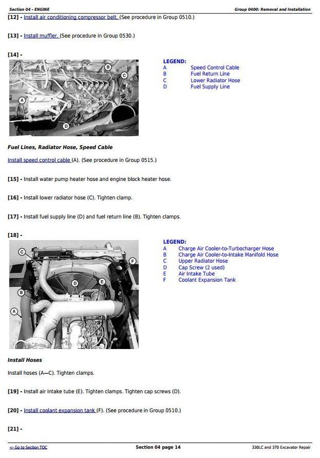 TM1670 - John Deere 330LC and 370 Excavator Service Repair Technical Manual - 2