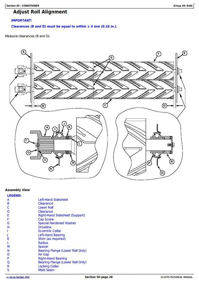 TM1675 - John Deere 945 and 955 Center Pivot Rotary Mower-Conditioner All Inclusive Technical Manual - 3