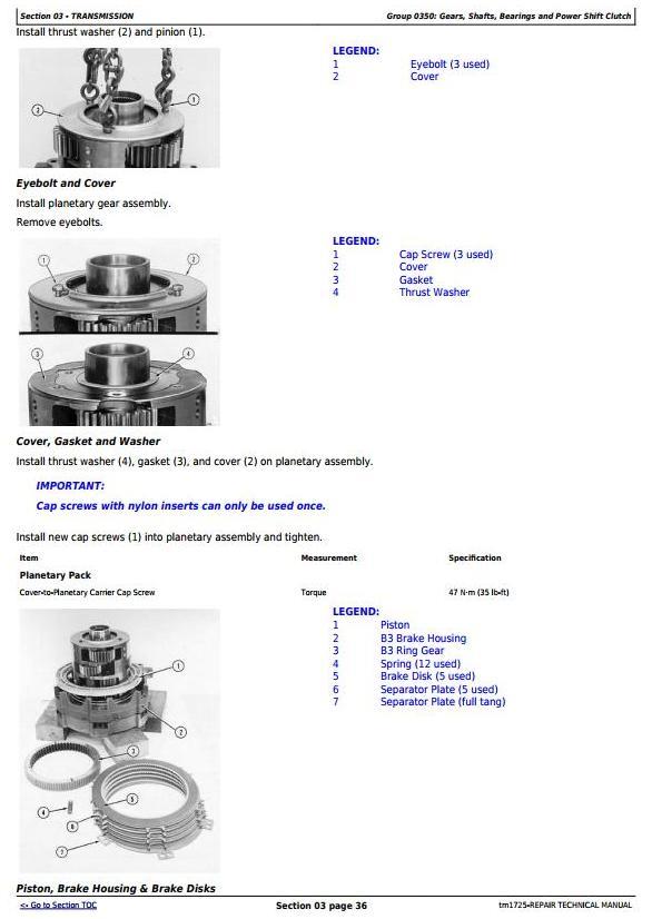 TM1725 - John Deere 862B Series II Scraper (SN. 818323-) Service Repair Technical Manual - 1