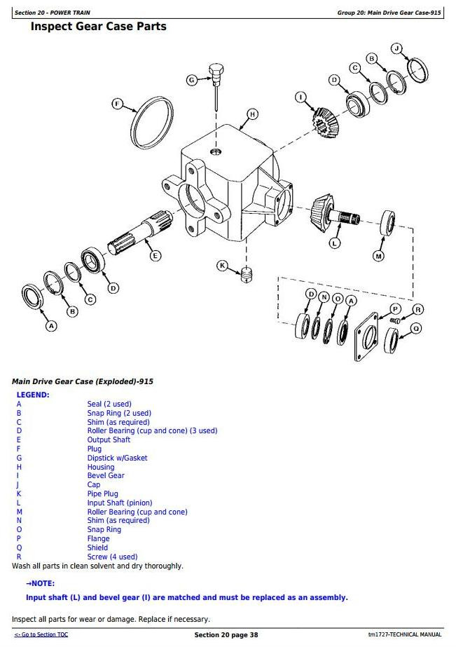 TM1727 - John Deere 915, 925 and 935 Rotary Mower Conditioners All Inclusive Technical Manual - 2
