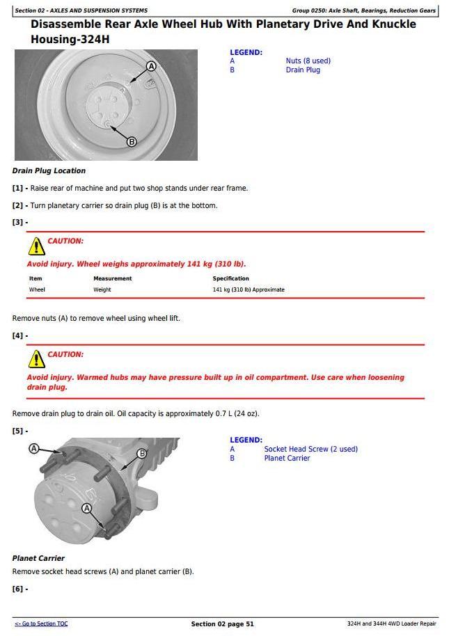 TM1746 - John Deere 324H and 344H 4WD Loaders Service Repair Technical Manual - 1