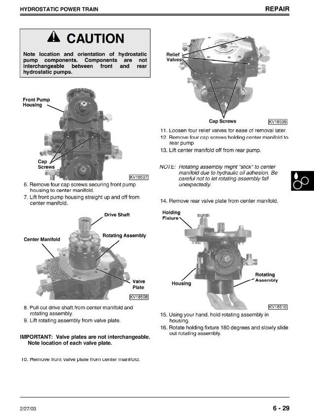 TM1747 - John Deere 240, 250 Skid Steer Loader Service Repair Technical Manual - 1