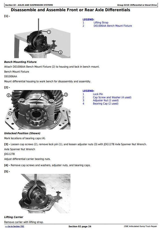 TM1786 - John Deere 250C Truck Articulated Dump Repair Technical Manual - 1