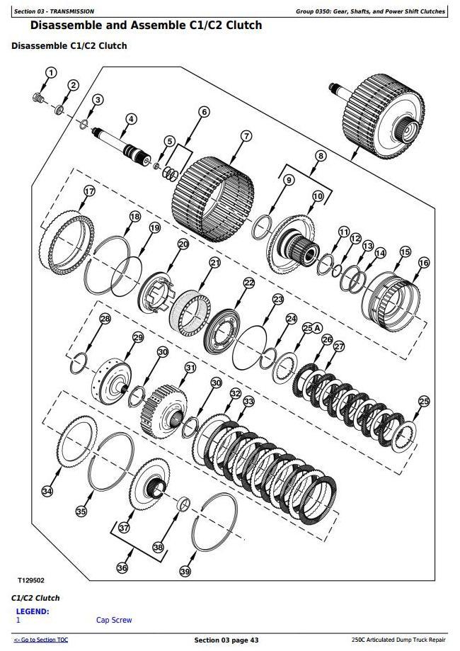 TM1786 - John Deere 250C Truck Articulated Dump Repair Technical Manual - 2