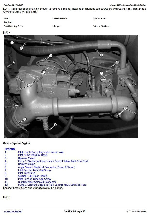TM1808 - John Deere 550LC Excavator Service Repair Technical Manual - 2