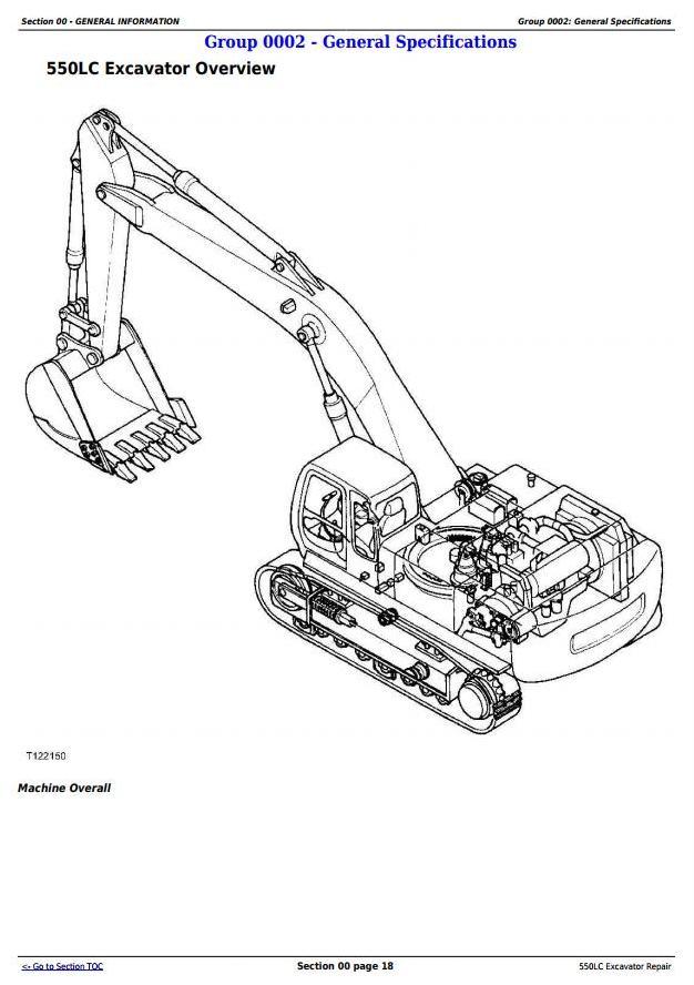 TM1808 - John Deere 550LC Excavator Service Repair Technical Manual - 3