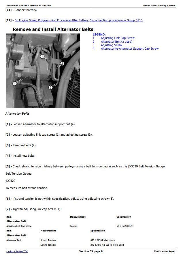 TM1810 - John Deere 750 Excavator Service Repair Technical Manual - 1