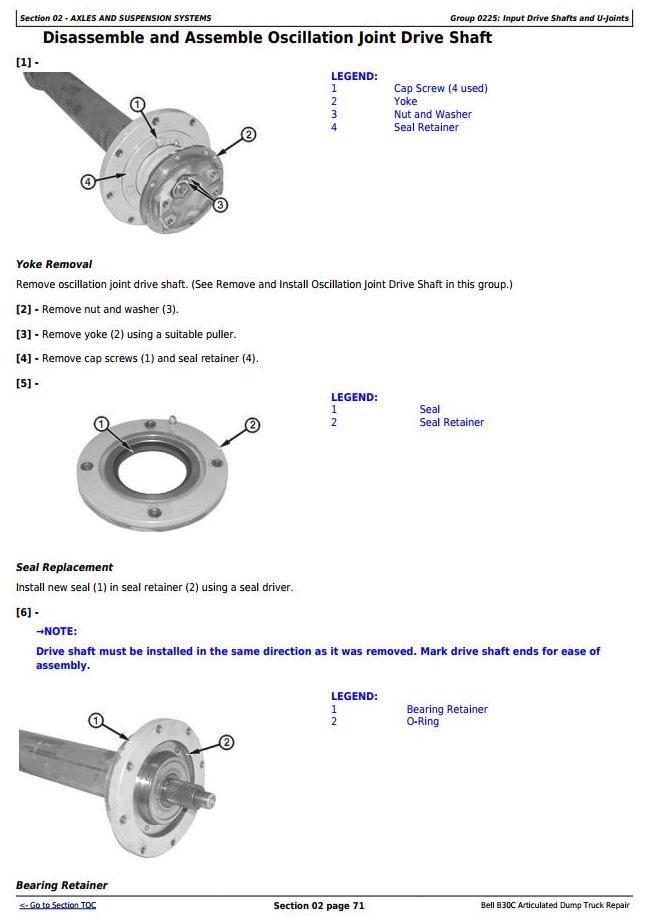 TM1814 - John Deere BELL B30C Articulated Dump Truck Service Repair Technical Manual - 1