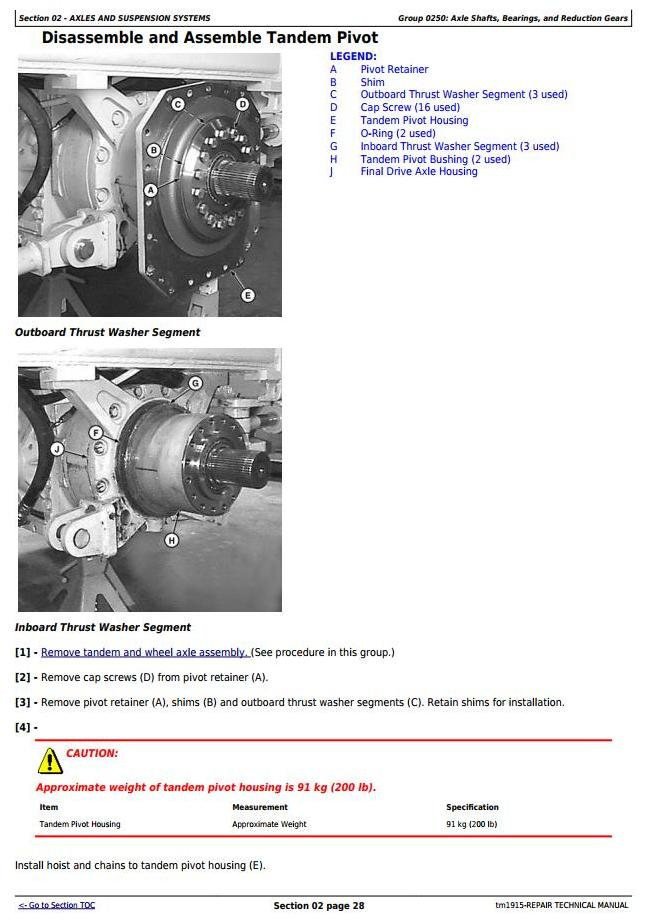 TM1915 - John Deere 670C, 670CH, 672CH, 770C, 770CH, 772CH Series II Motor Grader Service Repair Manual - 1