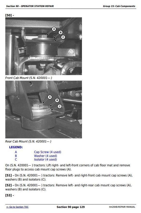 TM2048 - John Deere Tractors 5220, 5320, 5420, and 5520 Service Repair Technical Manual - 1