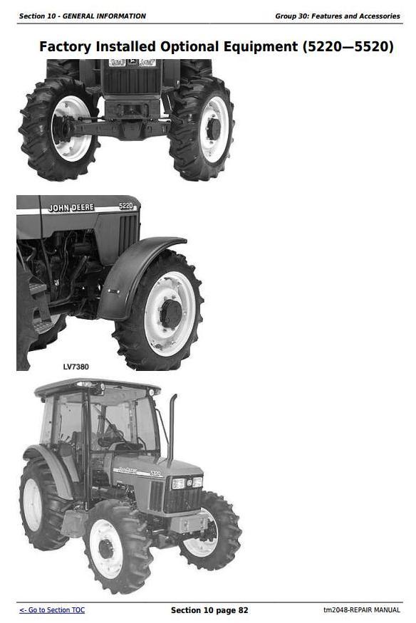 TM2048 - John Deere Tractors 5220, 5320, 5420, and 5520 Service Repair Technical Manual - 2
