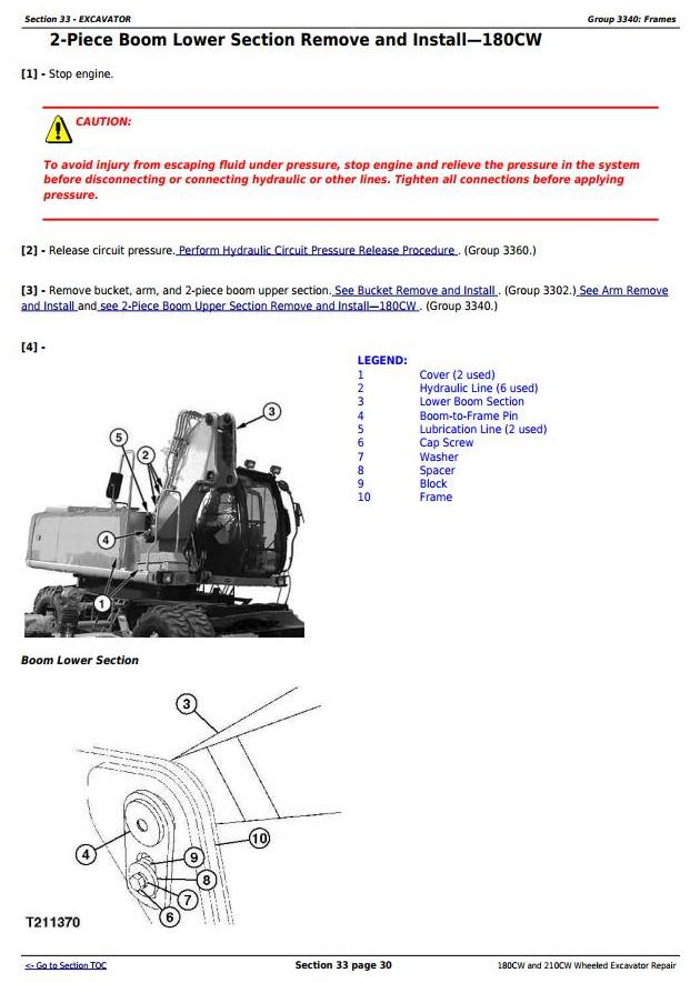 TM2287 - John Deere 180CW and 210CW Wheeled Excavator Service Repair Manual - 3