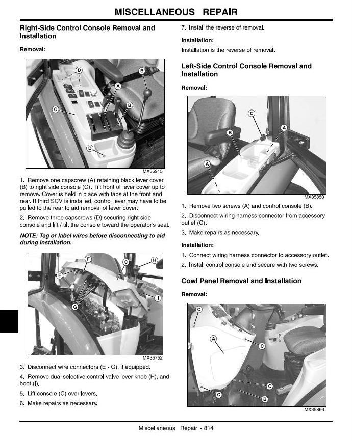 TM2370 - John Deere 4120,4320,4520,4720(SN.120001-670000) Compact Utility Tractors w.Cab Technical Manual - 3