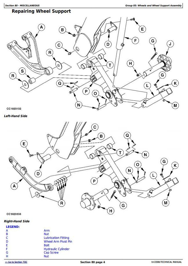 TM3308 - John Deere 730, 735 Hay and Forage Mower-Conditioner All Inclusive Technical Manual Service - 3
