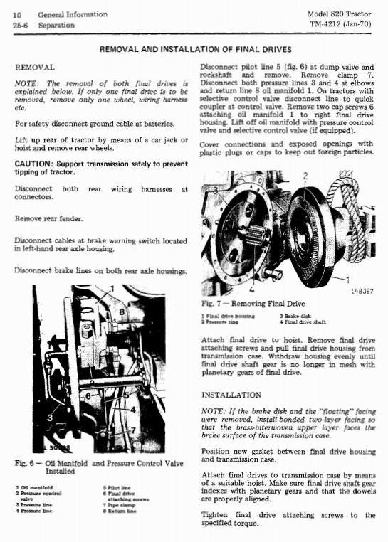 TM4212 - John Deere 820 Tractors Technical Service Manual - 3