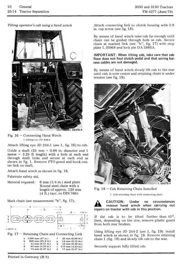 TM4277 - John Deere 3030, 3130 Tractors All Inclusive Technical Service Manual - 1