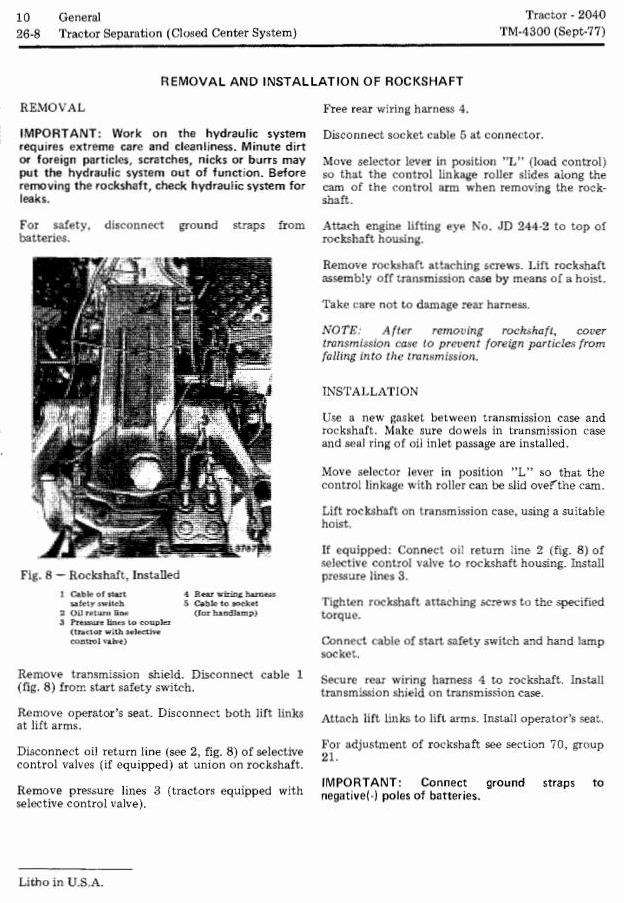 TM4300 - John Deere 2040 Utility Tractors (SN. 010001-349999) Technical Service Manual - 3