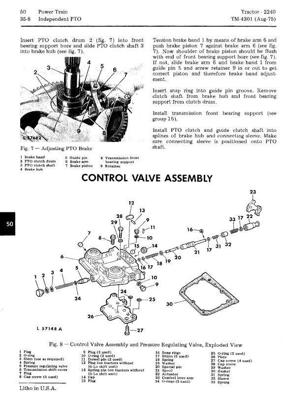 TM4301 - John Deere 2240 Utility Tractors Technical Service Manual - 2
