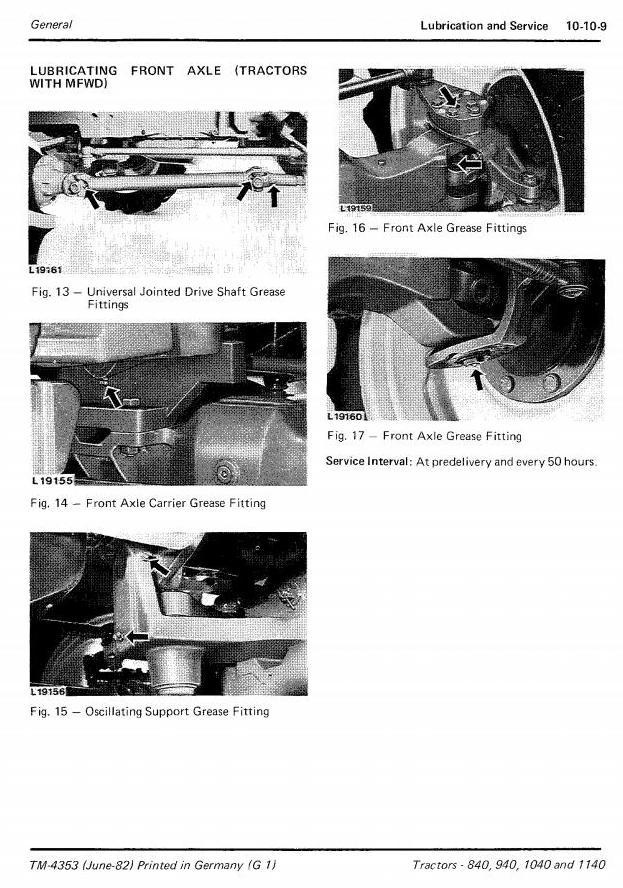 TM4353 - John Deere 840, 940, 1040 & 1140 Tractors Technical Service Manual - 1
