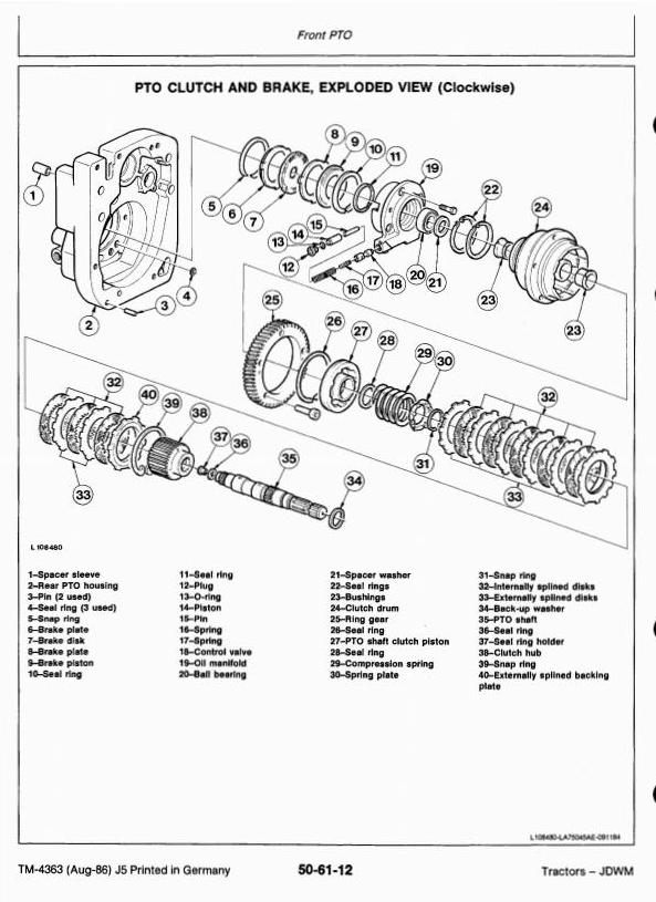 TM4363 - John Deere 1640, 1840, 2040, 2040S Tractors Technical Service Manual - 2