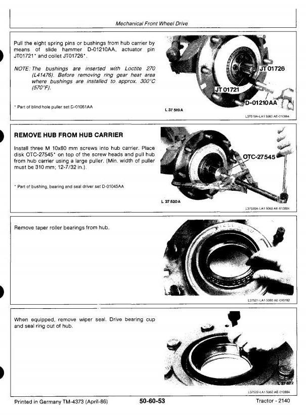 TM4373 - John Deere 2140 Tractors All Inclusive Technical Service Manual - 1
