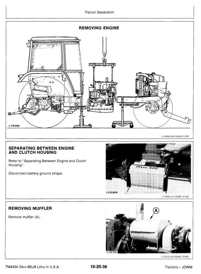 TM4434 - John Deere 2355, 2555, 2755, 2855N Tractors Service Repair Manual - 1
