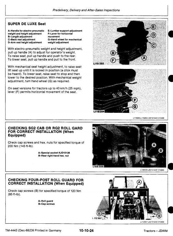 TM4443 - John Deere 3050, 3350, 3650 Tractors Service Repair Technical Manual - 1