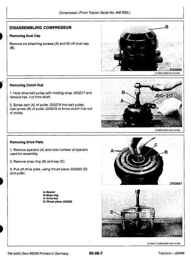 TM4443 - John Deere 3050, 3350, 3650 Tractors Service Repair Technical Manual - 3