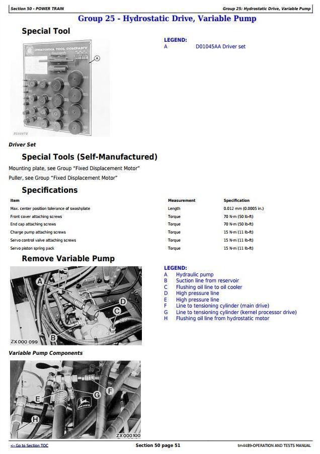 TM4489 - John Deere 6610, 6710, 6810, 6910 Self-Propelled Forage Harvester Diagnostic Service Manual - 2