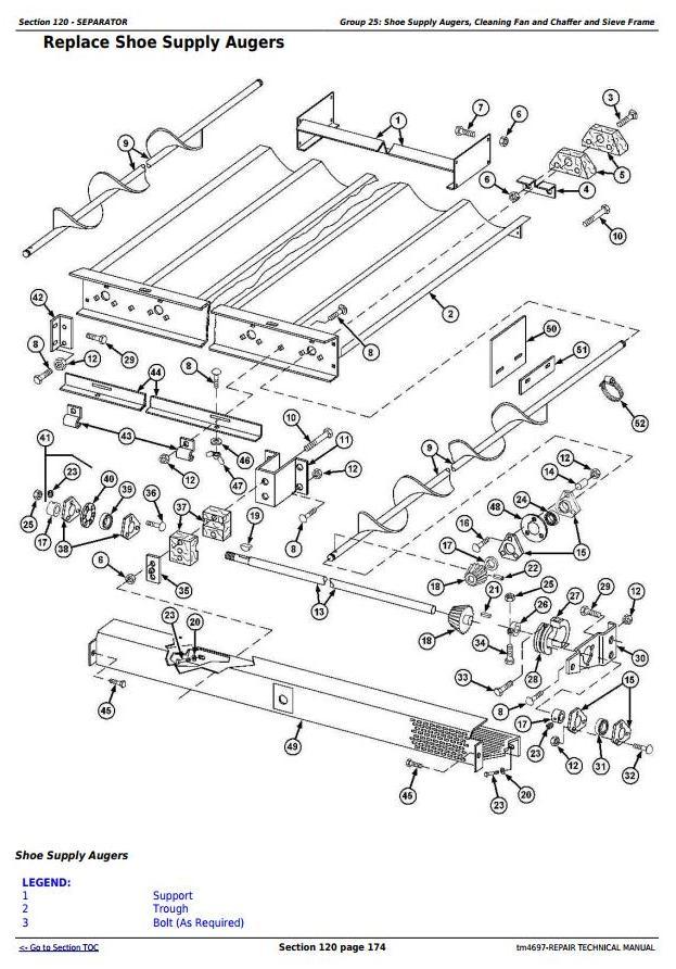 TM4697 - John Deere 9540, 9560, 9580, 9640, 9660, 9680 CWS/WTS Combine Service RepairTechnical Manual - 2
