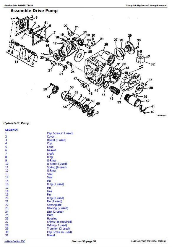 TM4714 - John Deere 1450, 1550, 1450CWS, 1550CWS, 1450WTS, 1550WTS Combines Repair Service Manual - 1