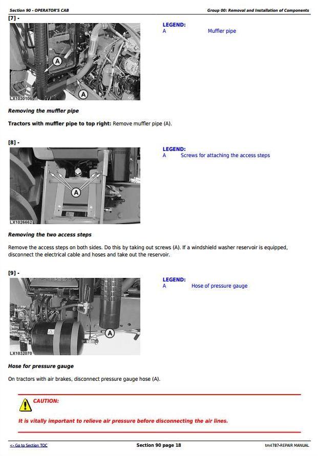 TM4787 - John Deere 5620, 5720 and 5820 2WD or MFWD Tractors Service Repair Manual - 3