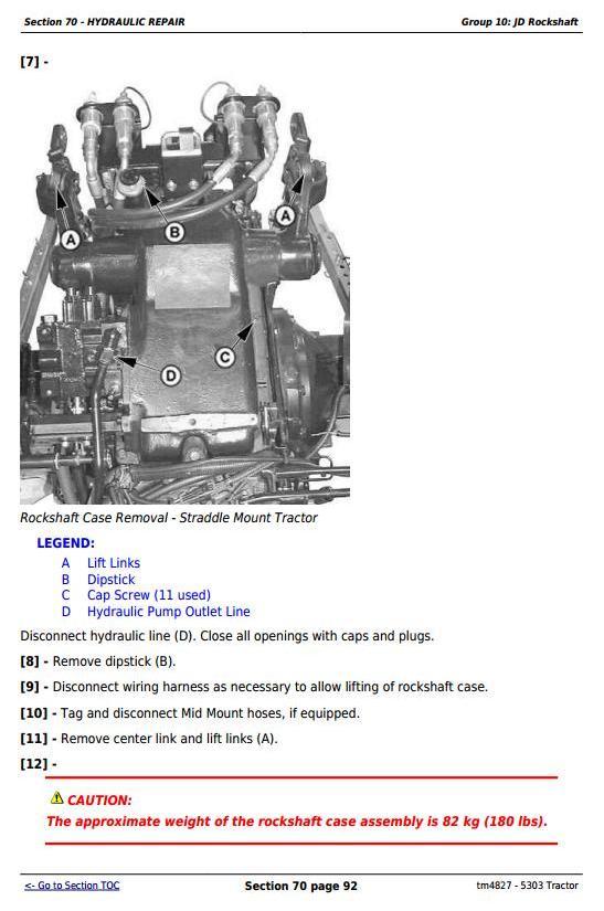 TM4827 - John Deere Tractor 5303 All Inclusive Technical Diagnostic and Repair Service Manual - 2